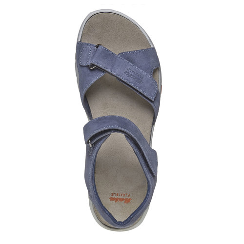 Sandali da donna in pelle flexible, viola, 563-9397 - 19