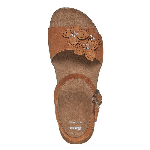 Sandali con tacco a zeppa bata, marrone, 569-3403 - 19
