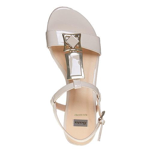 Sandali con cinturino sul collo del piede bata, beige, 561-8350 - 19