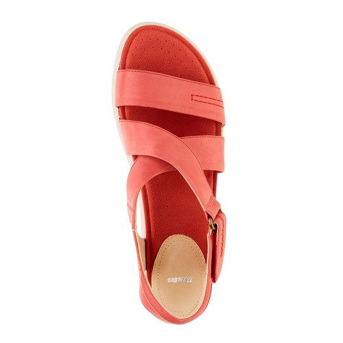 Sandali rossi da donna in pelle bata, rosso, 564-5351 - 19