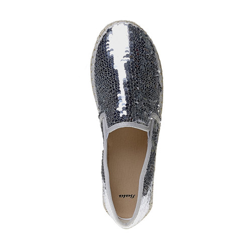 Slip-on da donna con paillettes bata, bianco, 559-1102 - 19