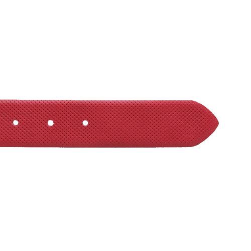 Cintura di pelle con perforazioni bata, rosso, 954-5154 - 16