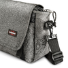 Borsa a tracolla in tessuto eastpack, grigio, 999-6651 - 15