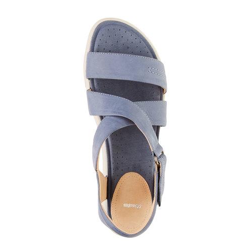Sandali da donna in pelle bata, blu, 564-9351 - 19