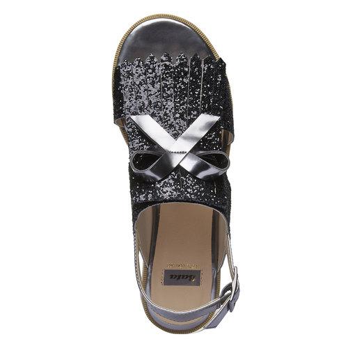 Sandali da donna con flatform bata, nero, 569-6390 - 19