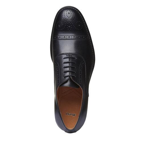 Scarpe basse di pelle con decorazioni Brogue bata, nero, 824-6803 - 19