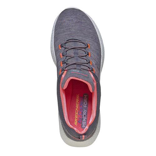 sneaker da donna skechers, grigio, 509-2707 - 19