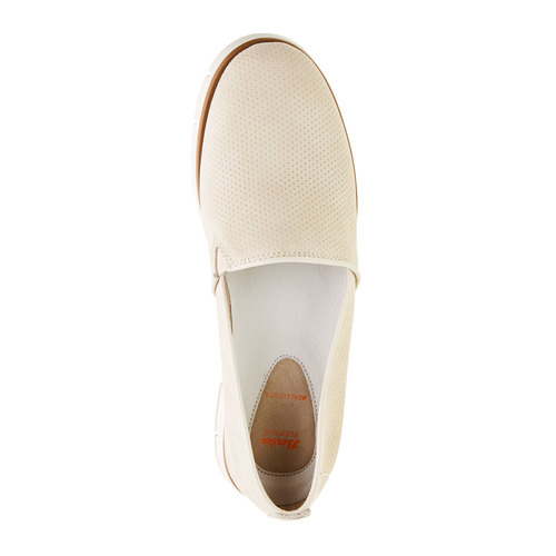 Slip-on di pelle con perforazioni flexible, giallo, 513-8200 - 19