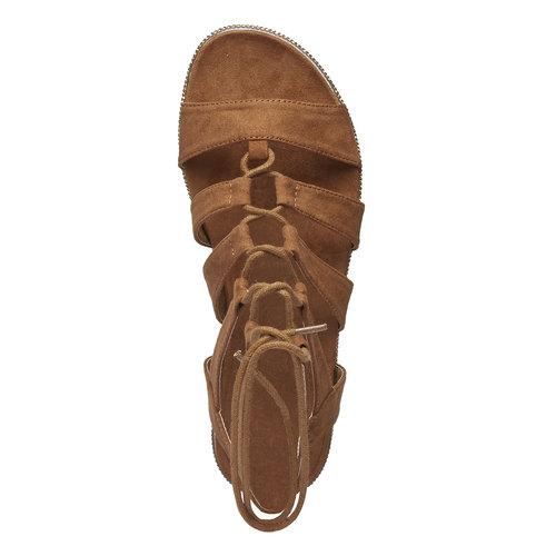 Sandali da donna di tipo gladiatore bata, marrone, 569-3388 - 19