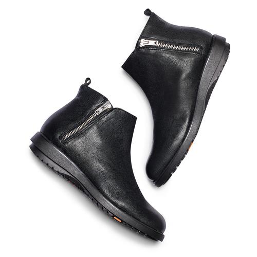 Scarpe di pelle alla caviglia flexible, nero, 594-6227 - 19