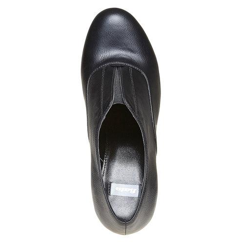 Scarpe basse da donna con tacco alto bata, nero, 721-6289 - 19