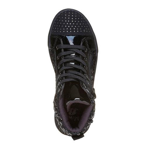 Sneakers nere da bambina con glitter mini-b, nero, 329-6216 - 19