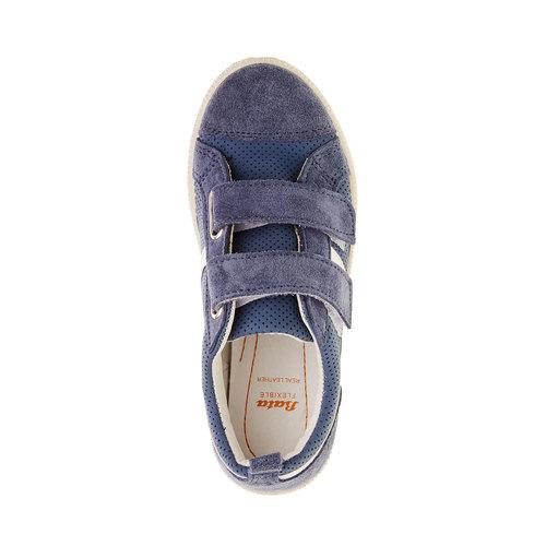 Sneakers da bambino con perforazioni flexible, blu, 311-9217 - 19