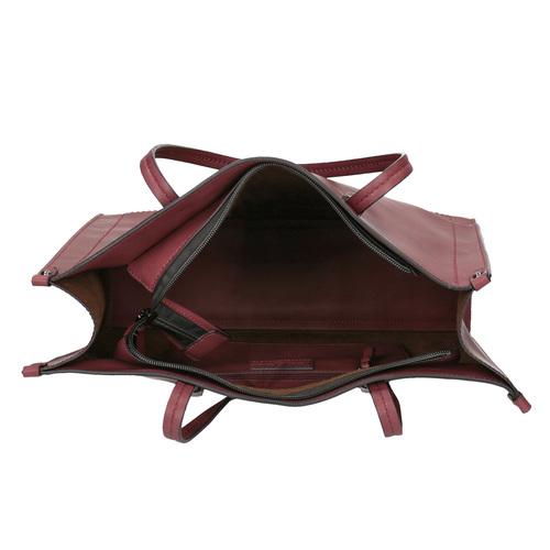 Borsetta da donna in stile Shopping bata, rosso, 961-0736 - 15