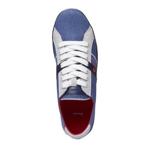 Sneakers da uomo con tomaia in denim bata, viola, 849-9663 - 19