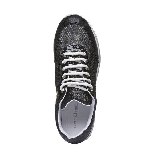 Sneakers con suola alta north-star, nero, 549-6232 - 19