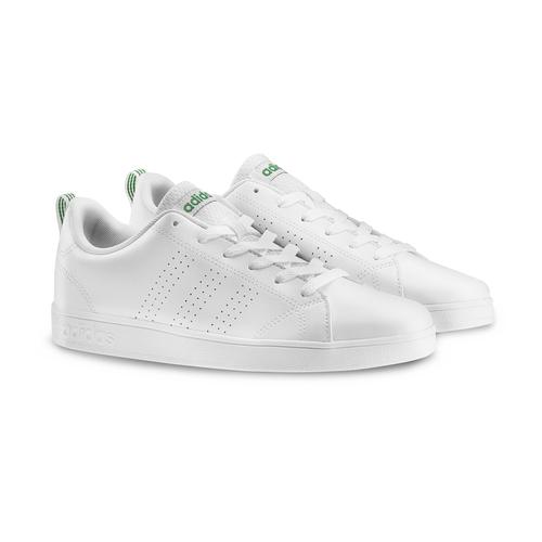 Sneakers bianche da bambino adidas, bianco, verde, 401-1233 - 19