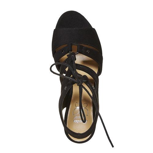 sandalo da donna con tacco bata, nero, 769-6536 - 19