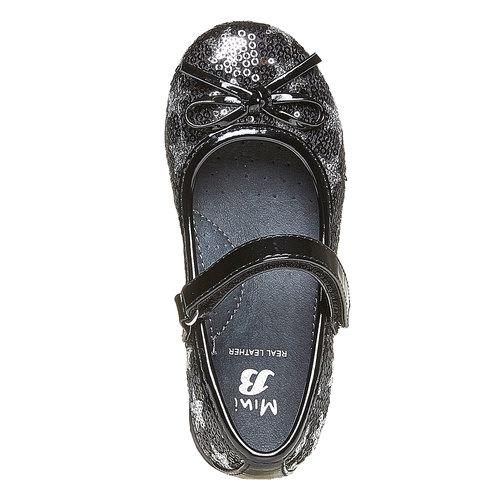 Ballerine da ragazza con glitter mini-b, nero, 229-6162 - 19
