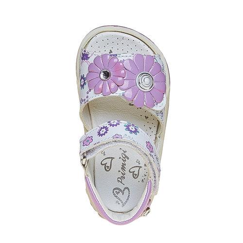 Sandali in pelle per bambina primigi, bianco, 164-1120 - 19
