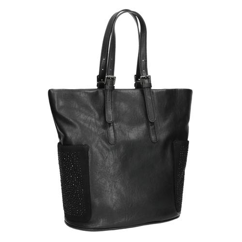 Borsetta nera da donna con strass bata, nero, 961-6118 - 13