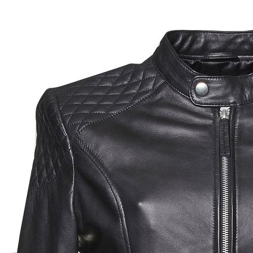 Giacca da donna in pelle bata, nero, 974-6151 - 16