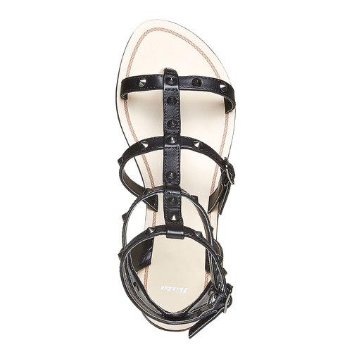 Sandali alla schiava da donna bata, nero, 561-6296 - 19