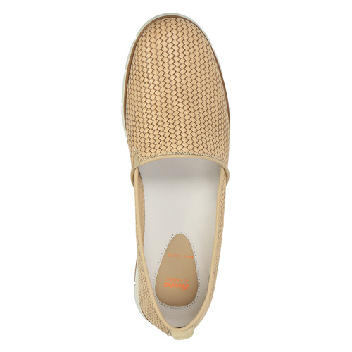 Slip-on da donna in pelle flexible, beige, 515-8203 - 19