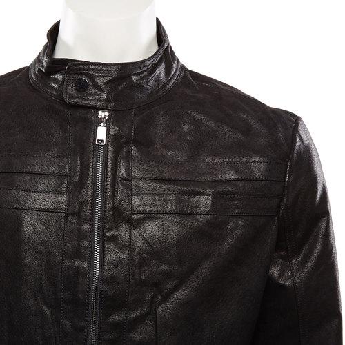 Giacca da uomo in pelle bata, nero, 973-6109 - 16