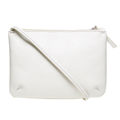 borsa in pelle da donna bata, bianco, 964-8174 - 26