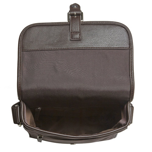 Borsa Crossbody da uomo con patta bata, marrone, 961-4776 - 15
