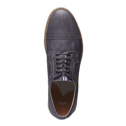 Scarpe basse informali di pelle bata, nero, 824-6856 - 19