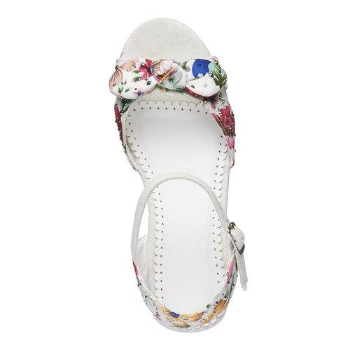 Sandali da bambina con plateau mini-b, bianco, 369-1168 - 19
