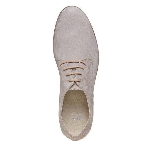 Scarpe basse in pelle scamosciata bata, grigio, 823-2752 - 19