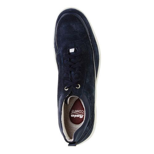 Sneakers informali di pelle bata-comfit, blu, 843-9643 - 19