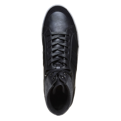 Sneakers informali alla caviglia bata, nero, 841-6694 - 19