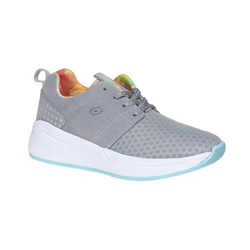 Sneakers da donna con suola ampia lotto, grigio, 509-2157 - 13