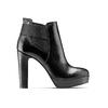 Stivaletti di pelle alla caviglia con plateau bata, nero, 794-6571 - 26