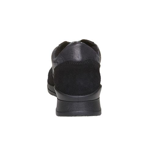 Sneakers da donna con motivo metallizzato bata, nero, 543-6143 - 17