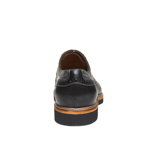 Oxford di pelle con suola appariscente bata-the-shoemaker, grigio, 824-2132 - 17