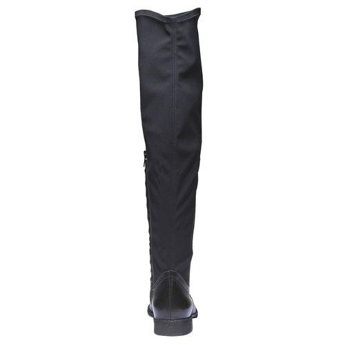 Stivali di pelle bata, nero, 594-6225 - 17