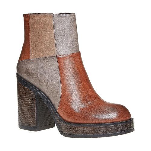 Stivaletti alla moda bata, marrone, 791-3301 - 13