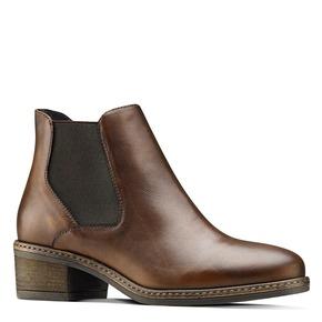 Scarpe in pelle alla caviglia con lati elastici bata, marrone, 694-3382 - 13