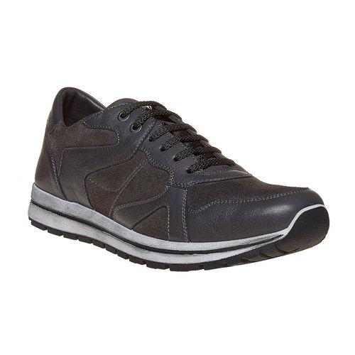 Sneakers in pelle da uomo bata, grigio, 843-2685 - 13