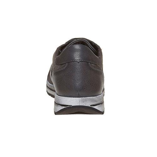 Sneakers in pelle da uomo bata, grigio, 843-2685 - 17