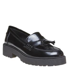 Tassel Loafer in pelle con suola appariscente bata, nero, 514-6199 - 13