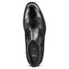 Chelsea in pelle da uomo con decorazioni Brogue bata, nero, 894-6201 - 17