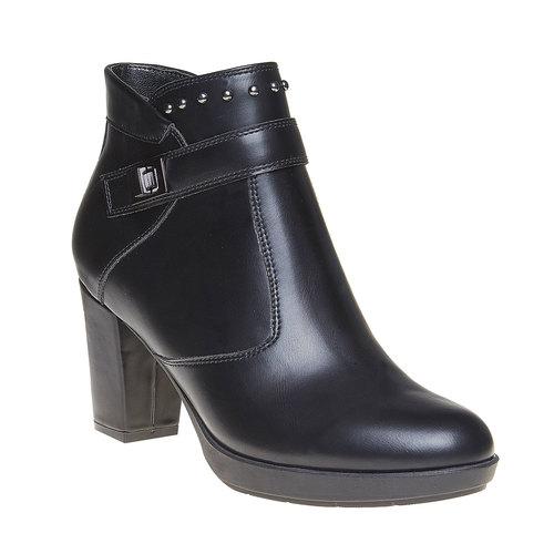 Scarpe da donna alla caviglia bata, nero, 791-6443 - 13