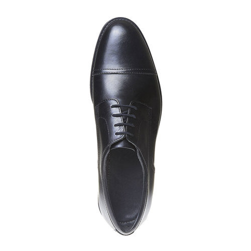Scarpe basse Derby di pelle da uomo, nero, 824-6713 - 19