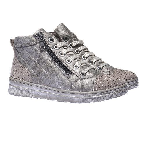 Sneakers lucide con strass mini-b, marrone, 321-3165 - 26